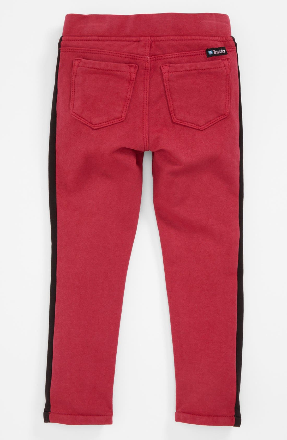 Alternate Image 2  - Tractr Tuxedo Stripe Jeggings (Toddler Girls)