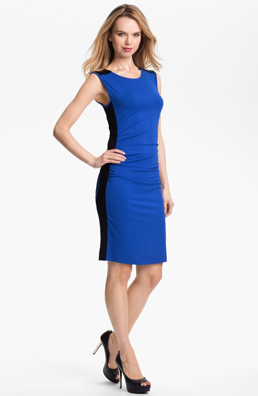Main Image - Vince Camuto Colorblock Sleeveless Dress