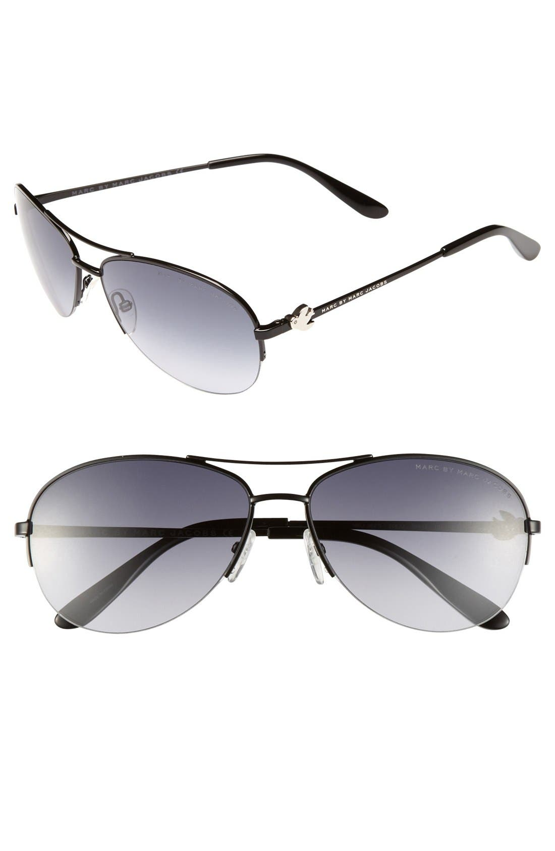 Main Image - MARC BY MARC JACOBS 59mm Aviator Sunglasses