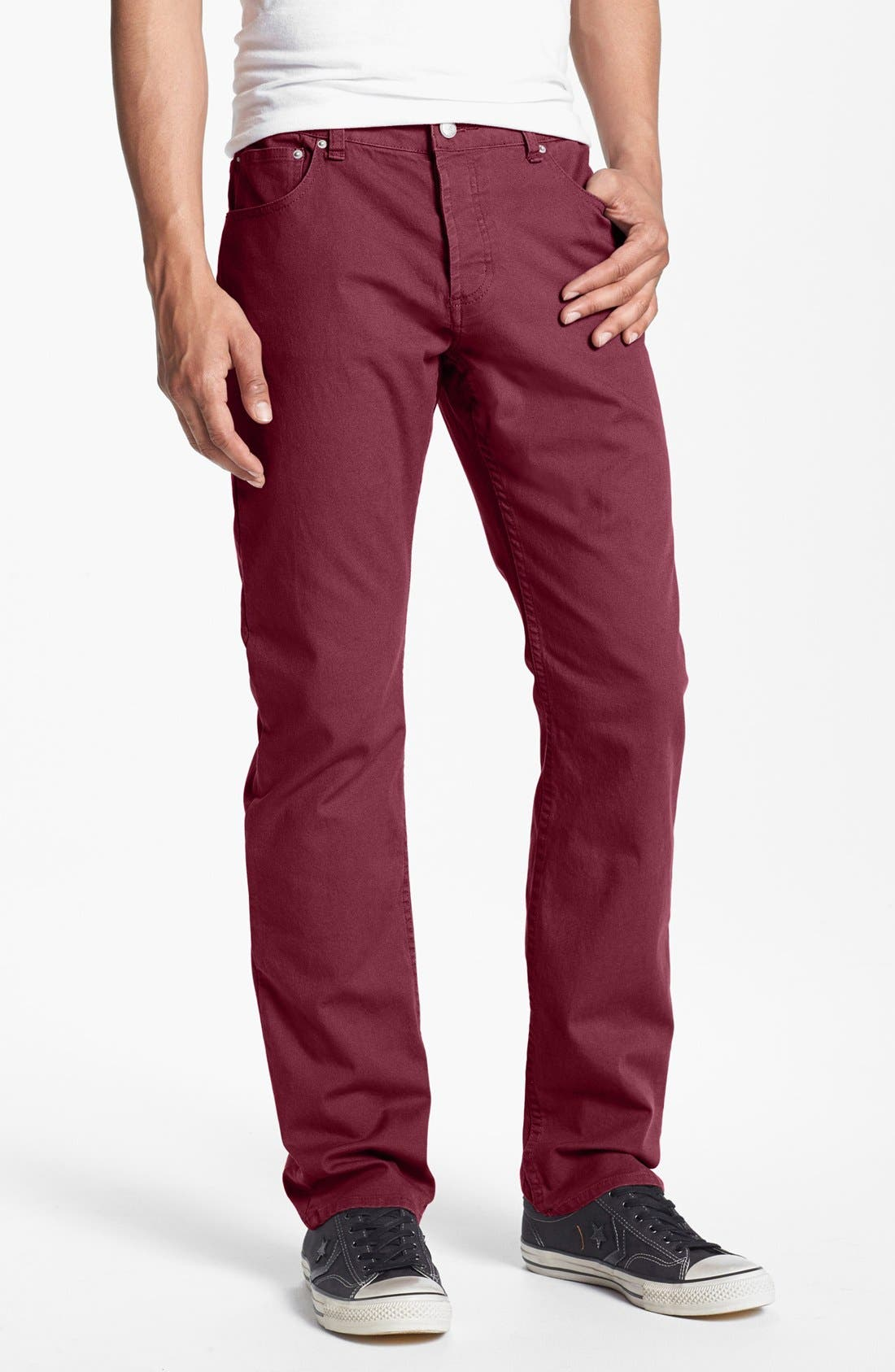 Alternate Image 1 Selected - Obey 'New Threat' Slim Fit Canvas Pants