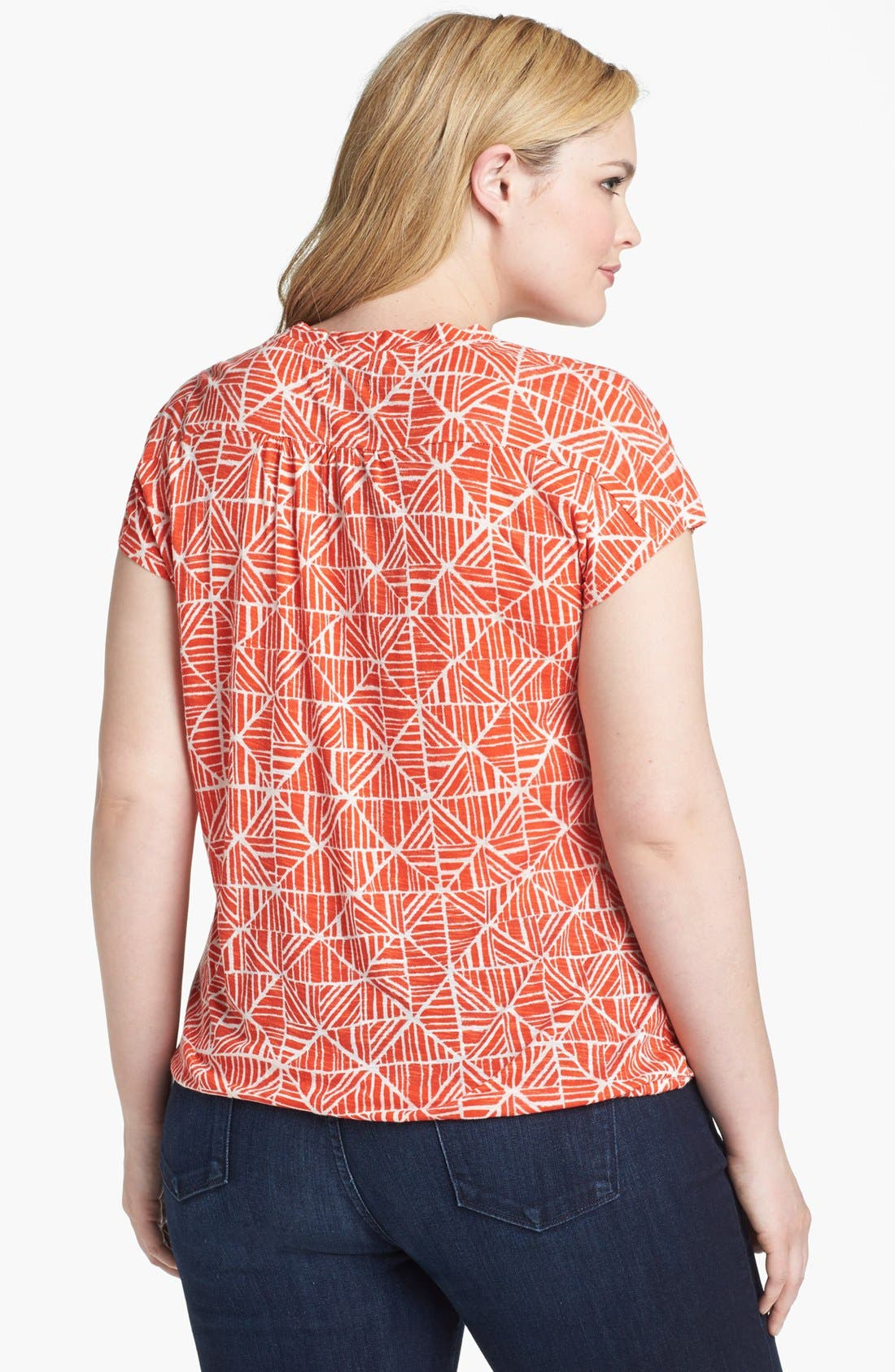 Alternate Image 2  - Lucky Brand 'Mosaic Tile' Print Tee (Plus Size)