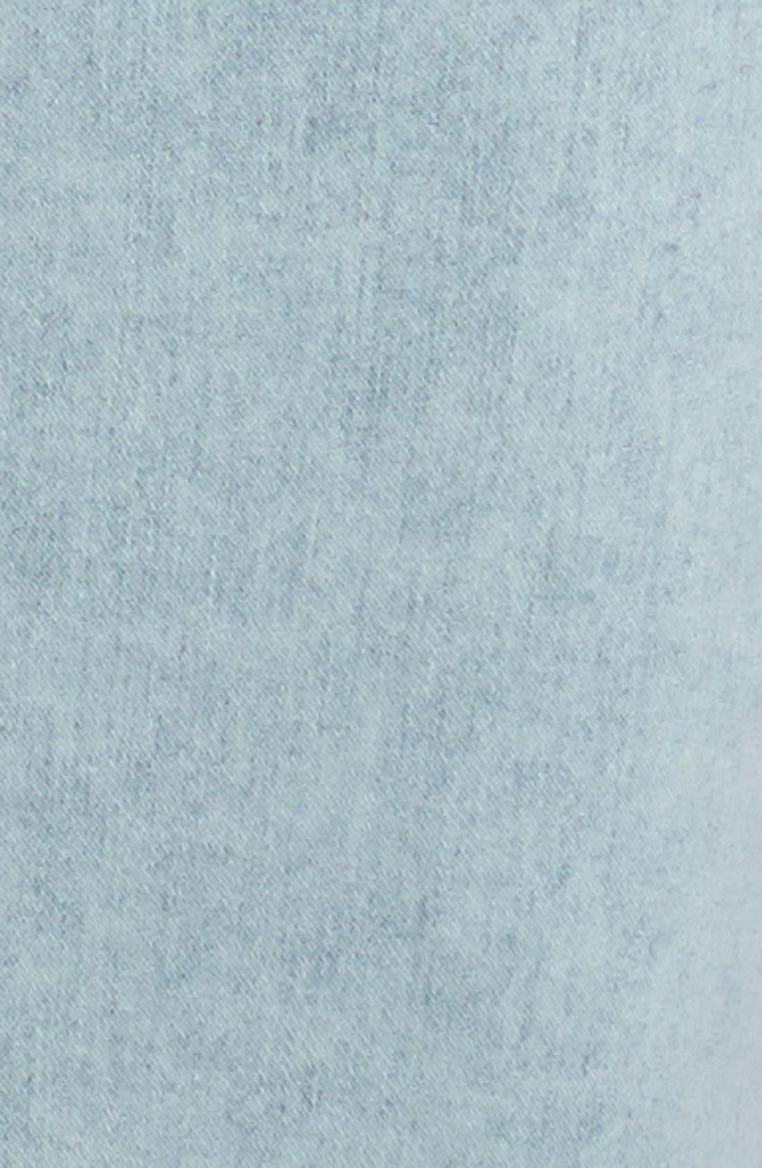 Alternate Image 3  - Topshop 'Joni' Acid Wash Denim Pencil Skirt