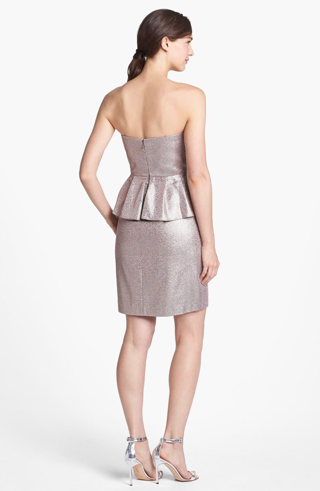 Alternate Image 2  - Adrianna Papell Metallic Peplum Sheath Dress
