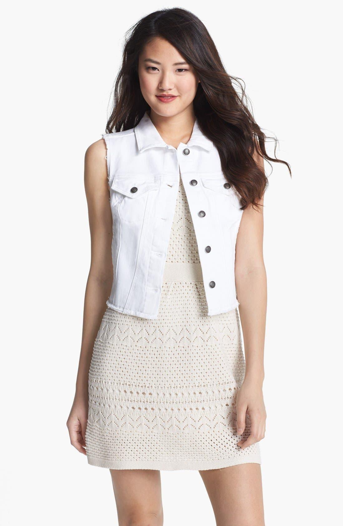 Main Image - Jessica Simpson 'Dee Dee' Denim Vest