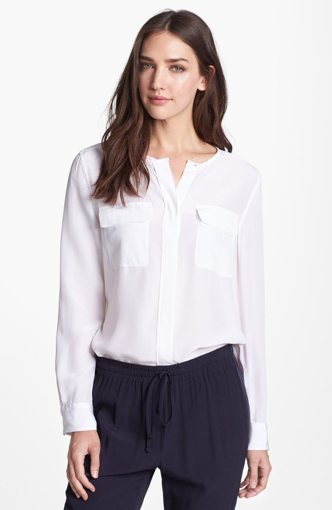 Alternate Image 1 Selected - Equipment 'Lynn' Silk Shirt
