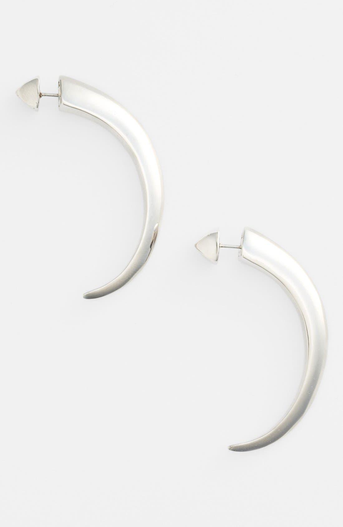 Alternate Image 1 Selected - Vince Camuto 'By the Horns' Reversible Large Hoop Earrings