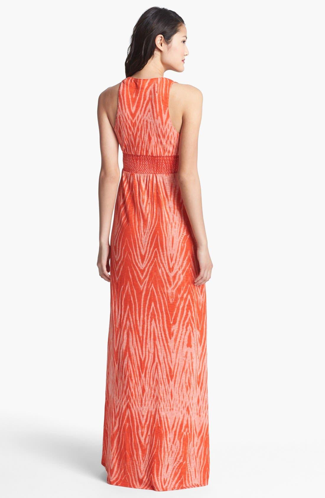 Alternate Image 2  - Lucky Brand V-Neck Print Maxi Dress