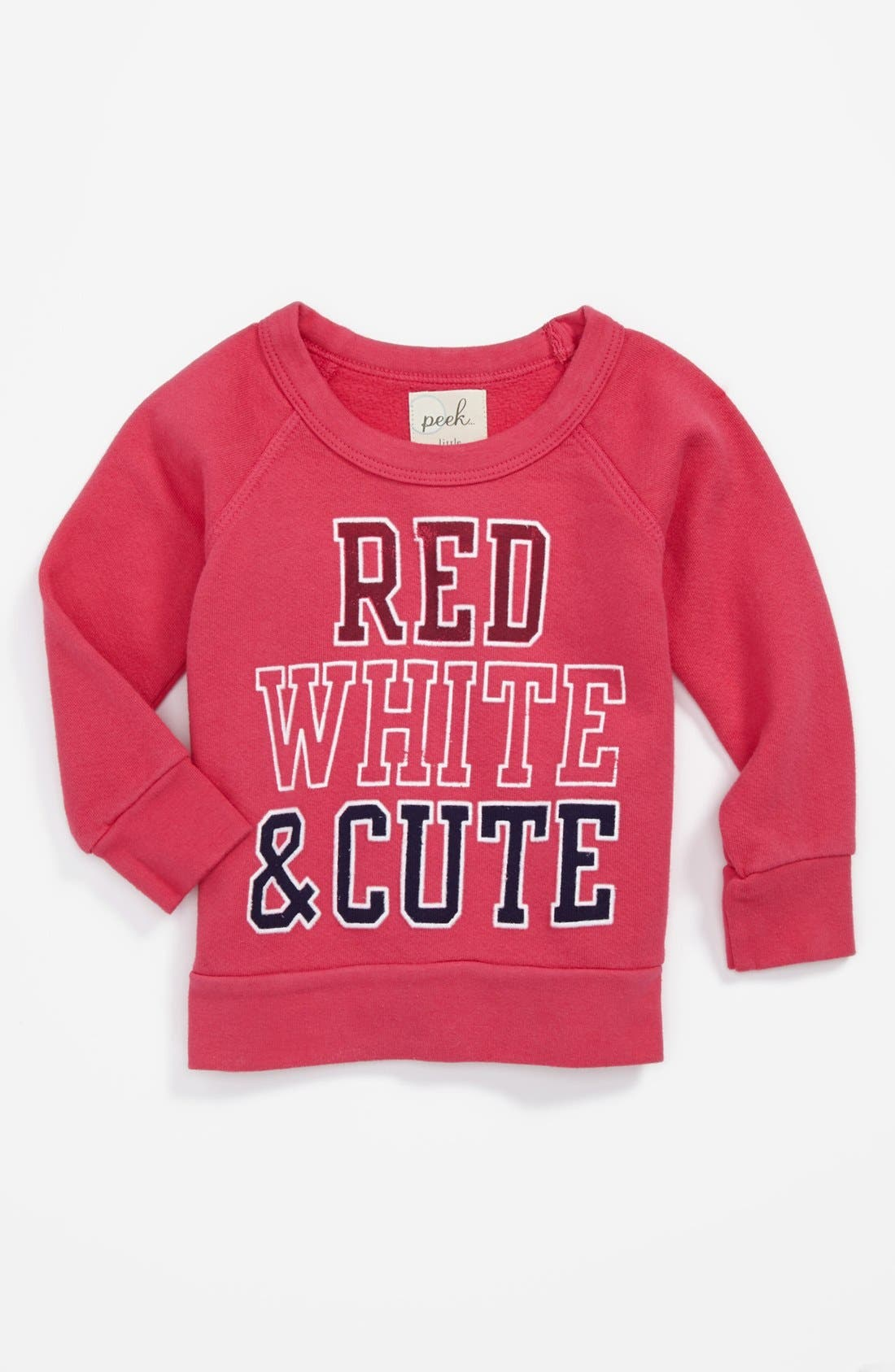 Alternate Image 1 Selected - Peek 'Baby Parade' Sweatshirt (Baby Girls)