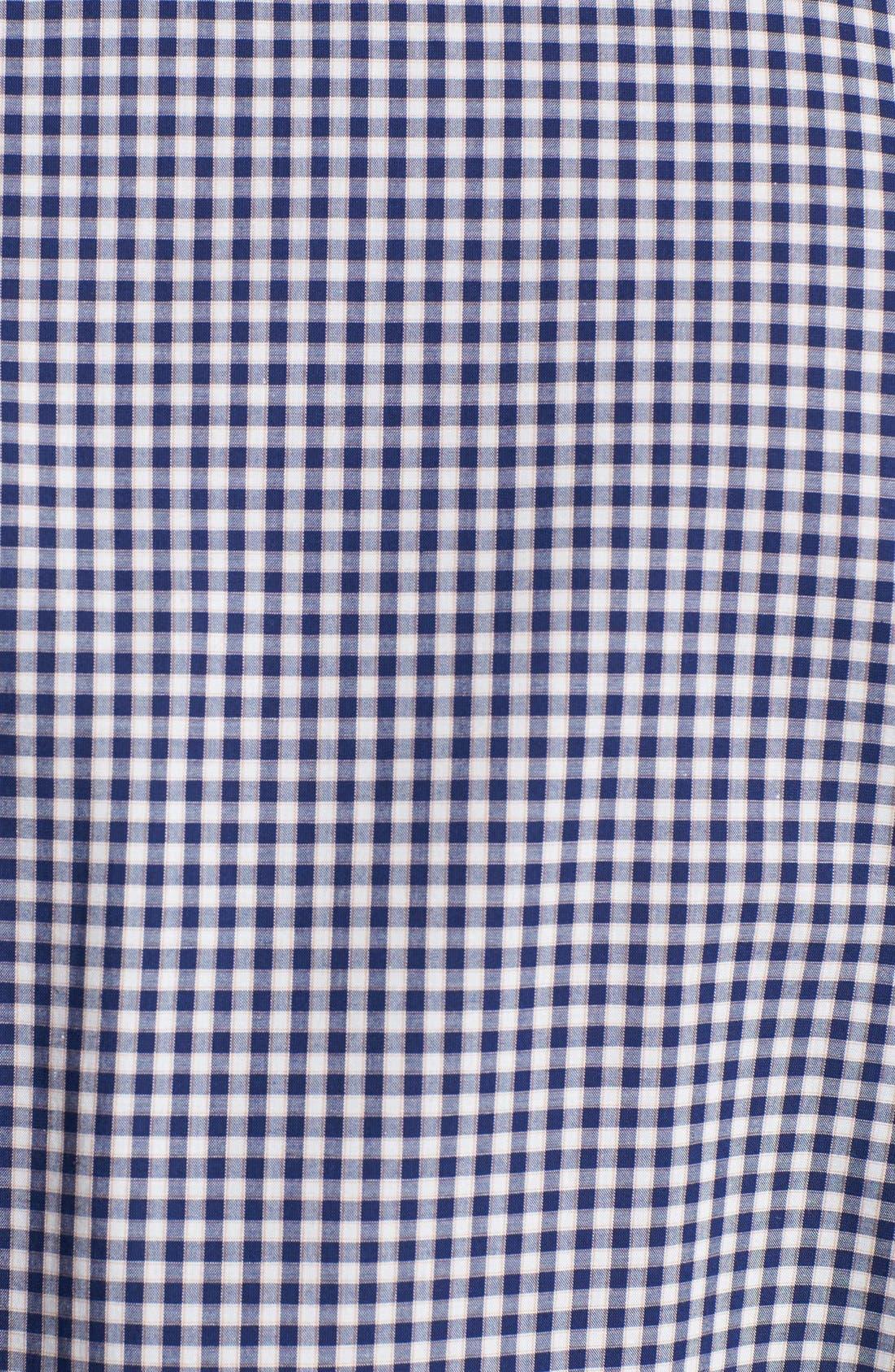 Alternate Image 2  - 7 Diamonds 'Good Time' Gingham Trim Fit Cotton Sport Shirt