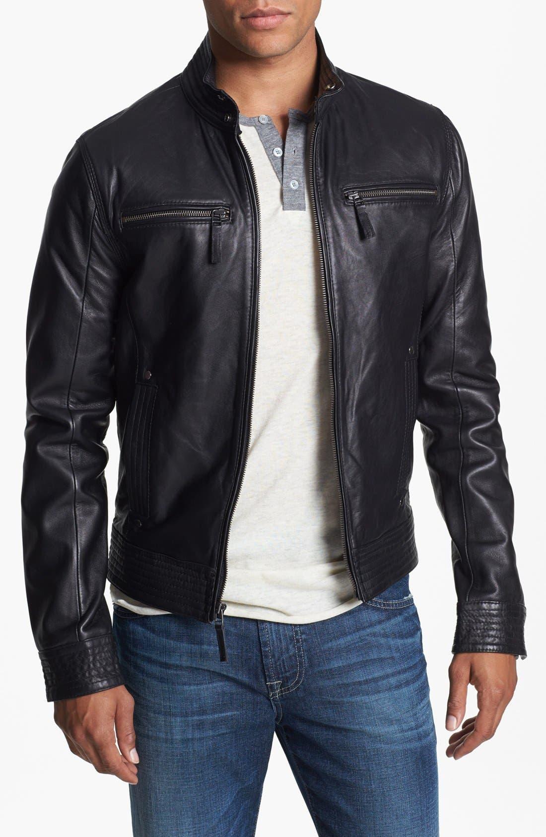 Alternate Image 1 Selected - 7 Diamonds 'Sprint' Leather Jacket