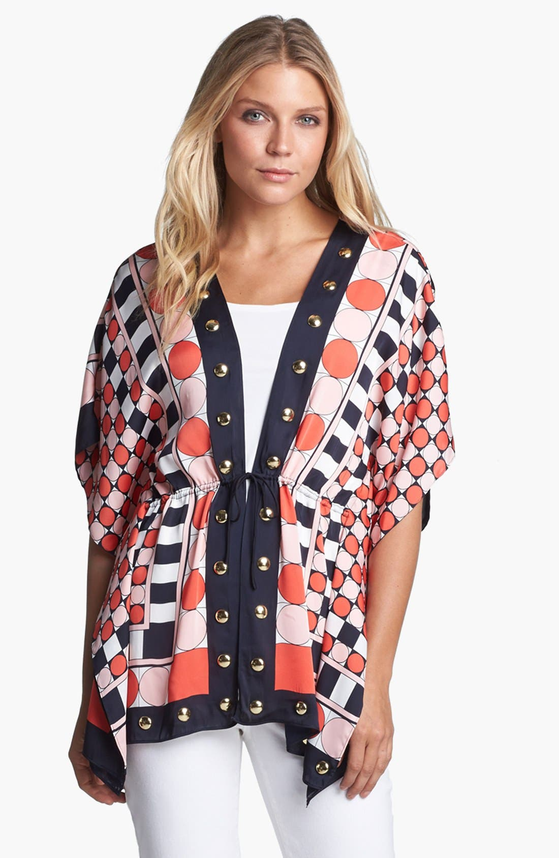 Alternate Image 1 Selected - MICHAEL Michael Kors Studded Kimono Sleeve Blouse