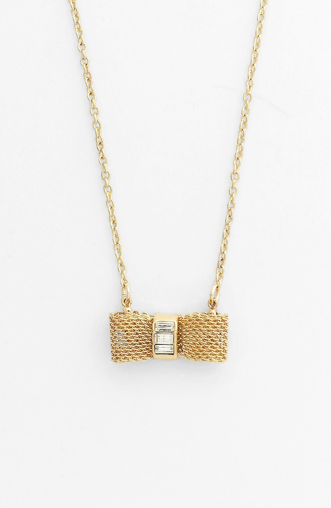 Main Image - Anne Klein Bow Pedant Necklace