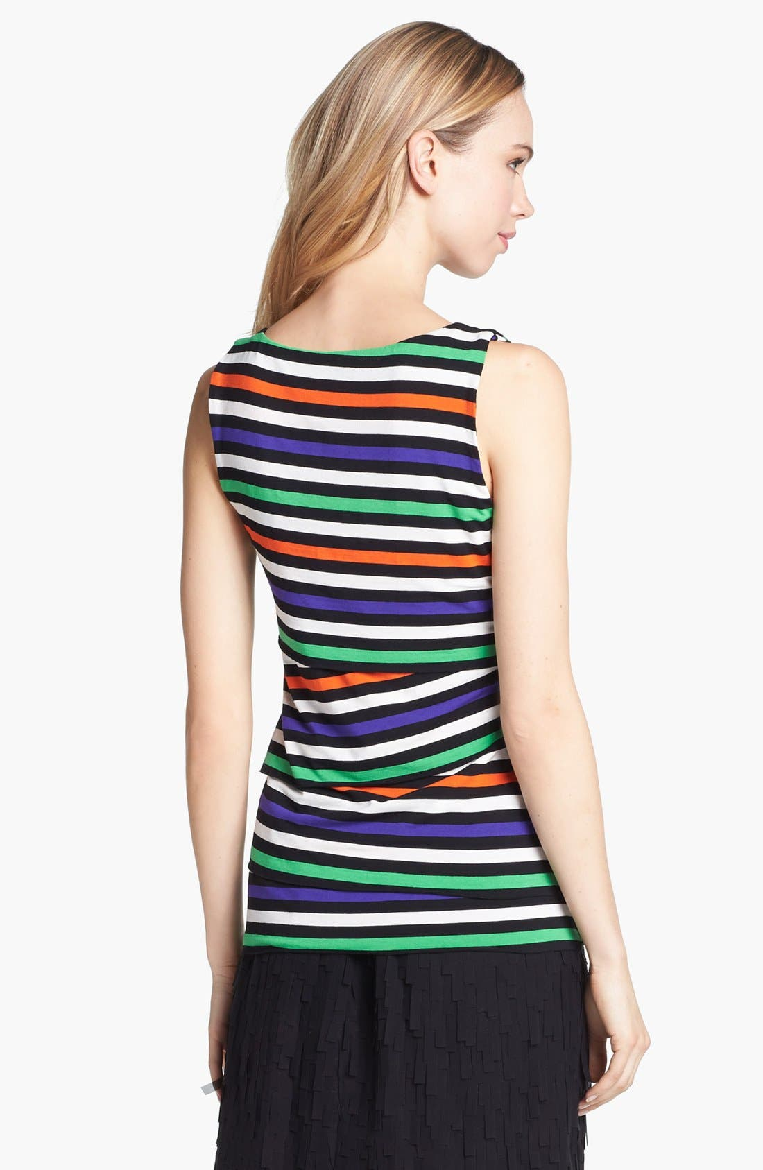 Alternate Image 2  - Vince Camuto Variegated Stripe Tiered Tank