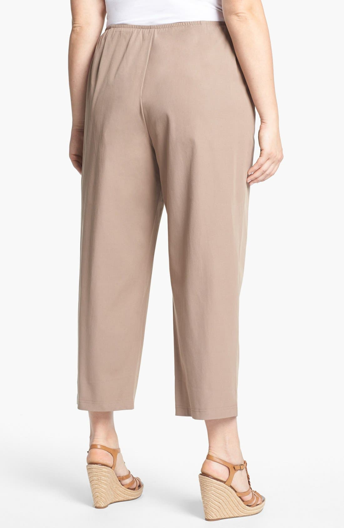 Alternate Image 2  - Eileen Fisher Stretch Ankle Pants (Plus Size)