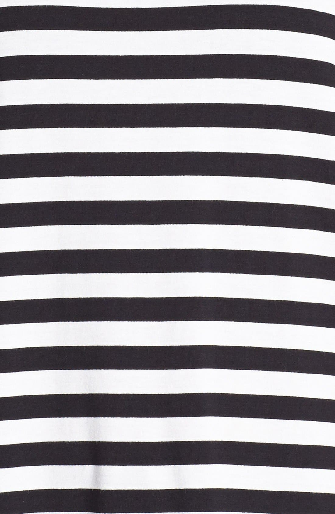 Alternate Image 3  - Vince Camuto Stripe Front Mixed Media Tee
