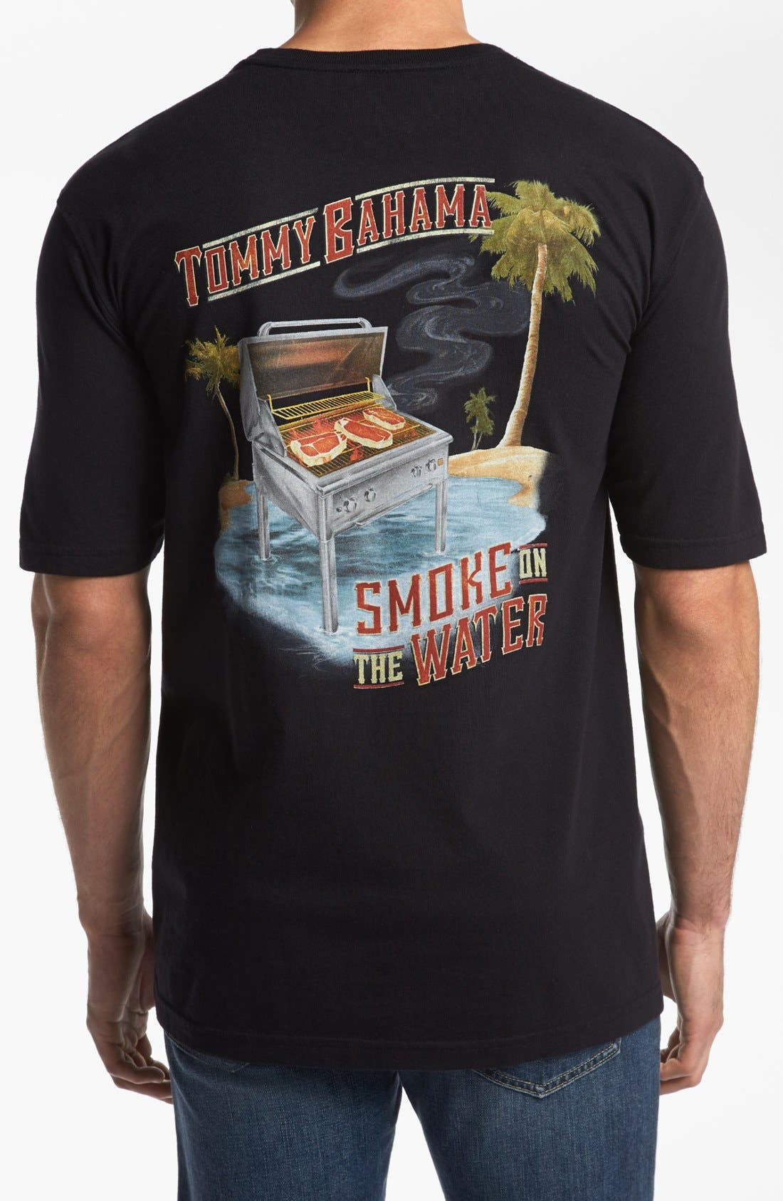 Alternate Image 1 Selected - Tommy Bahama Relax 'Smoke on the Water' T-Shirt
