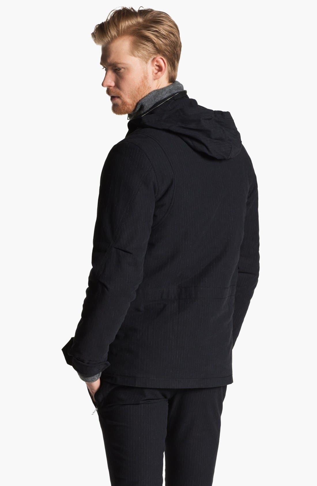 Alternate Image 2  - U Clothing Pinstripe M-65 Field Jacket