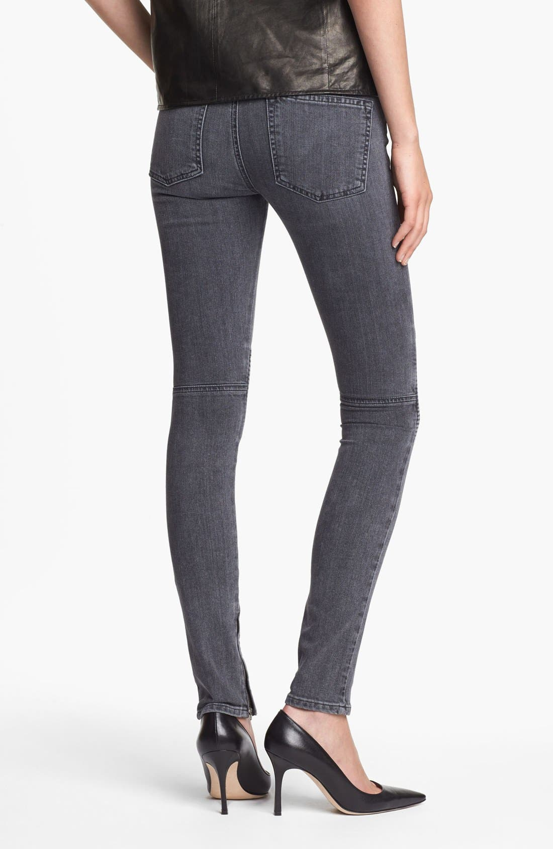 Alternate Image 2  - Vince Ankle Zip Skinny Stretch Jeans
