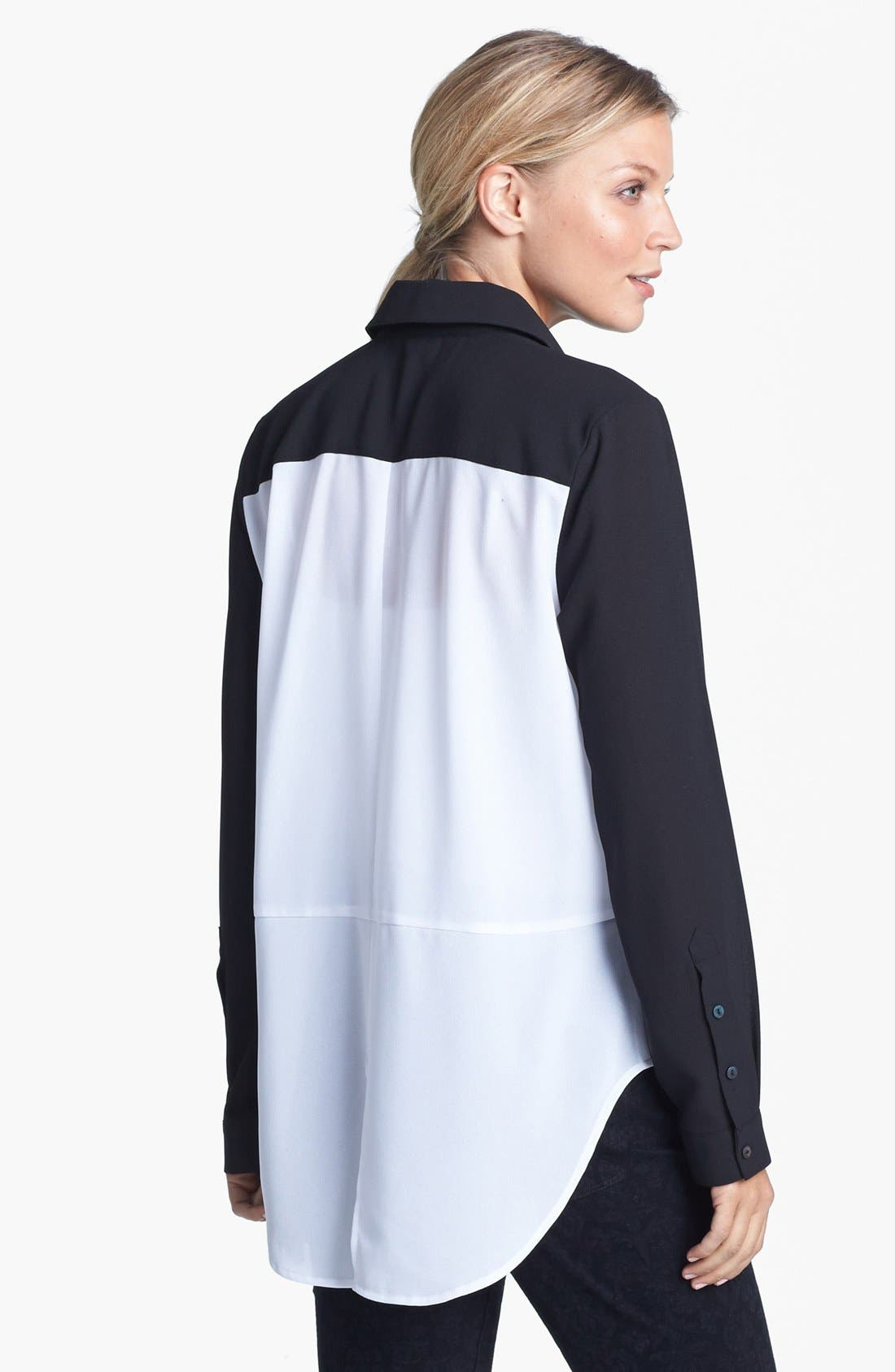 Alternate Image 3  - Fever Colorblock High/Low Blouse