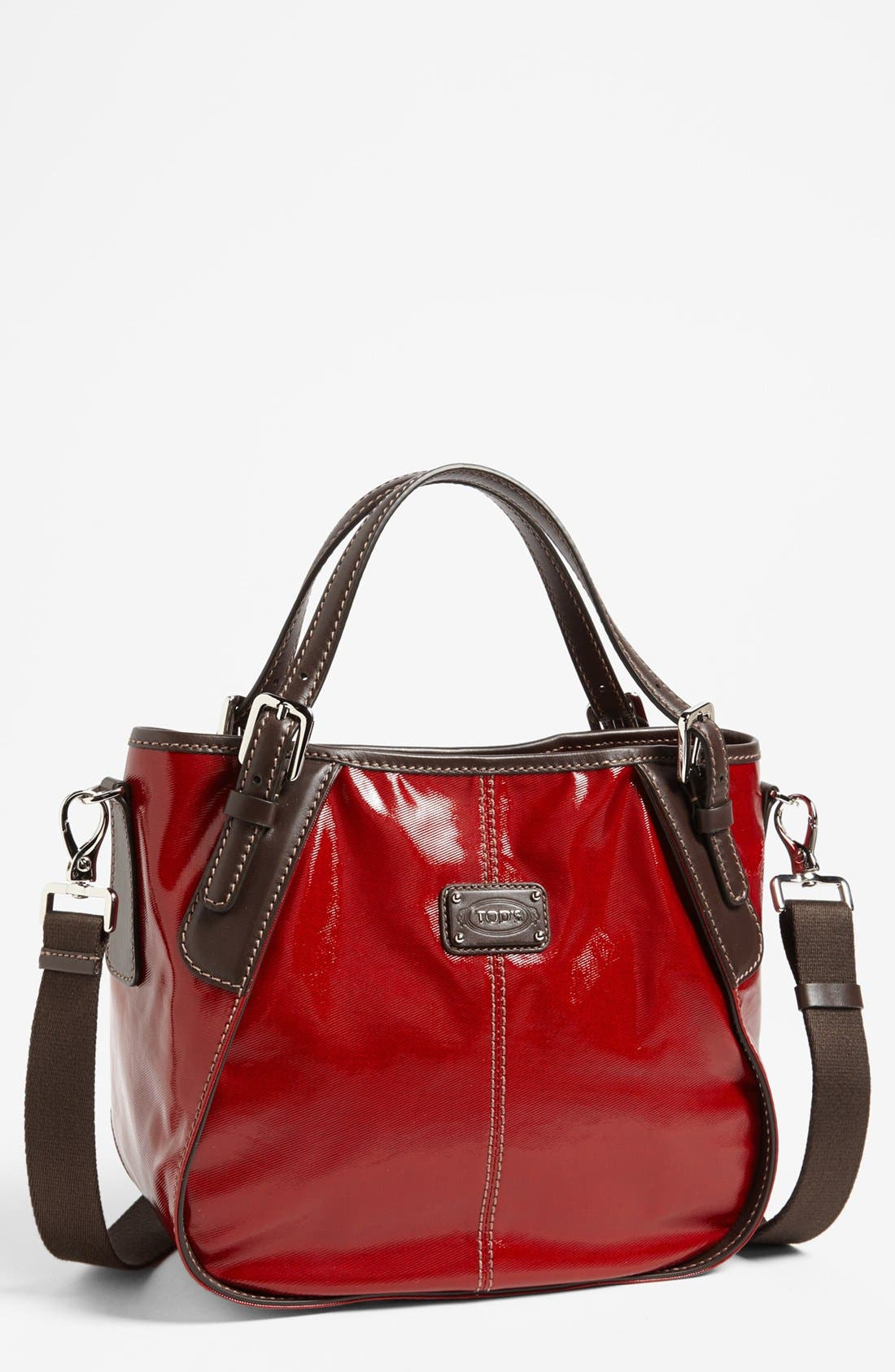 Alternate Image 1 Selected - Tod's 'New G-Line - Sacca Media' Leather Shopper