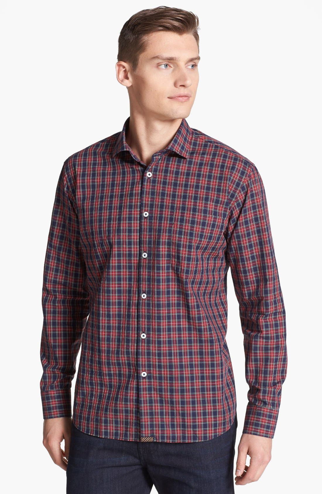Alternate Image 1 Selected - Billy Reid 'John T' Plaid Woven Shirt