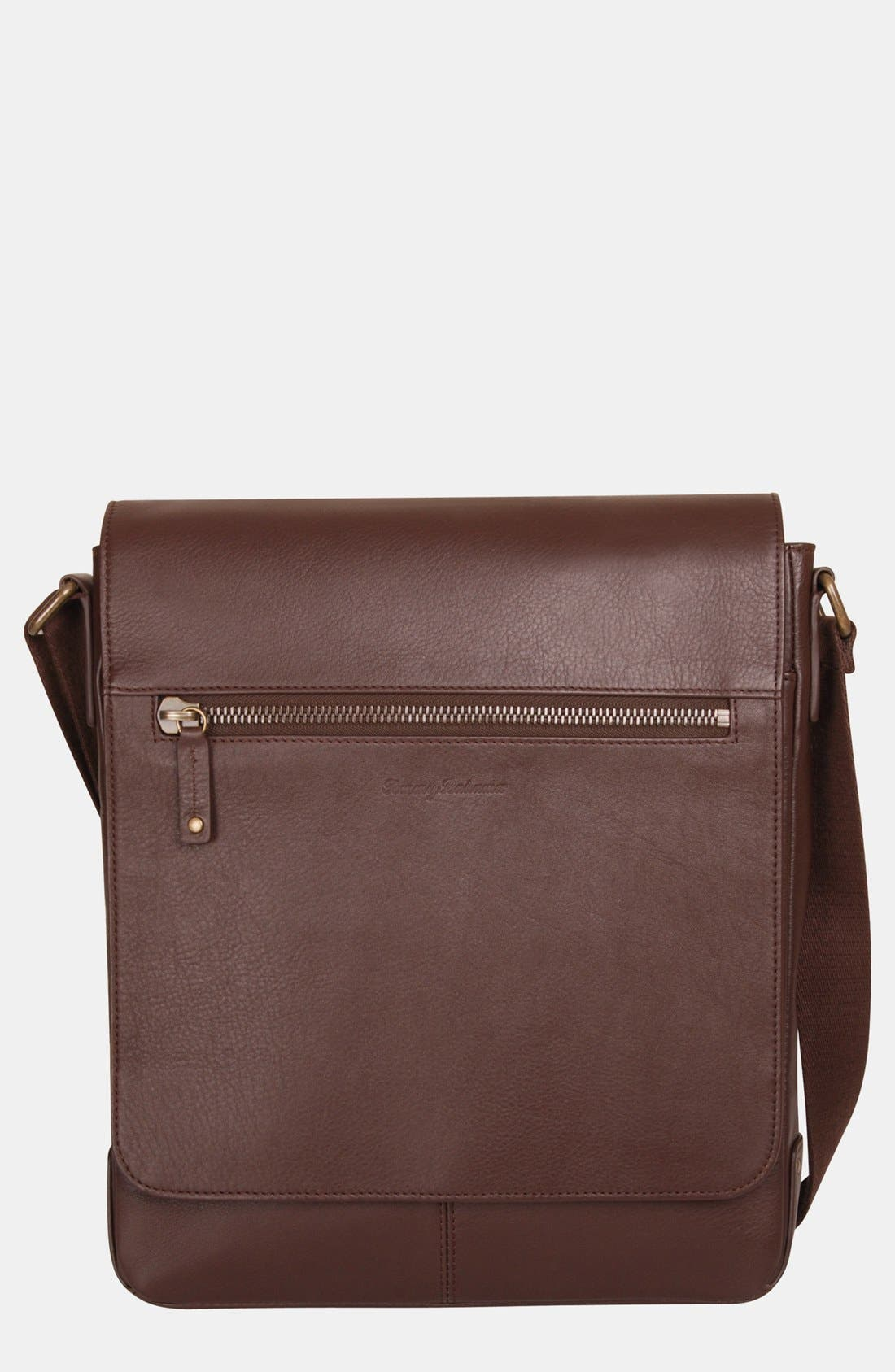 Main Image - Tommy Bahama Leather Messenger Bag