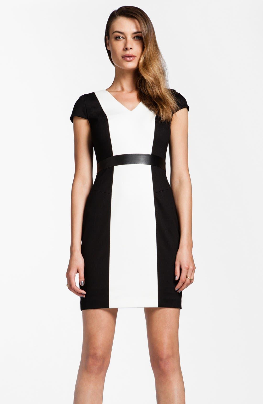Alternate Image 1 Selected - Cynthia Steffe 'Sabrina' Colorblock Sheath Dress