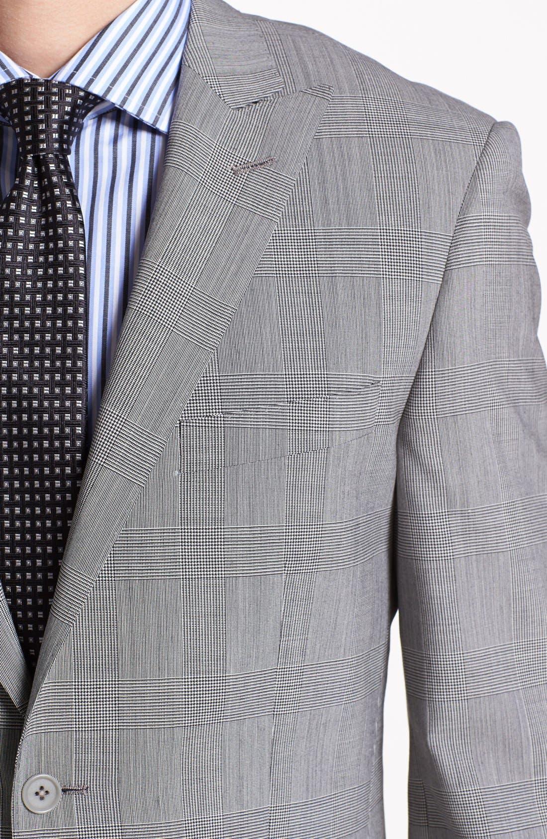 Alternate Image 2  - English Laundry Trim Fit Plaid Suit