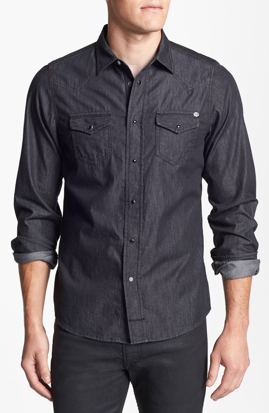 Alternate Image 1 Selected - DIESEL® 'Sonora' Chambray Shirt