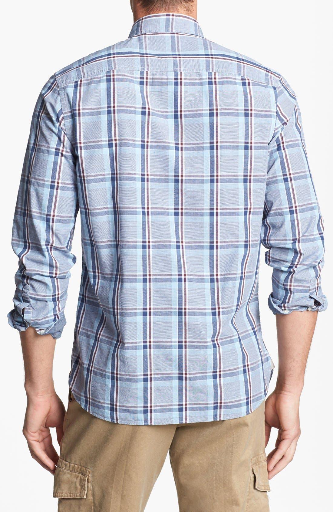 Alternate Image 2  - Wallin & Bros. Trim Fit Poplin Sport Shirt