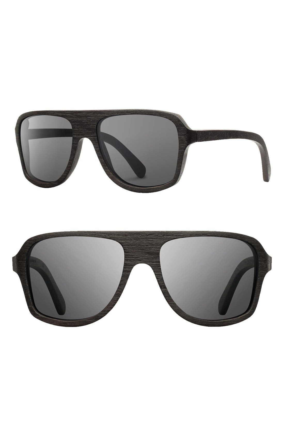 Alternate Image 1 Selected - Shwood 'Ashland' 56mm Polarized Wood Sunglasses