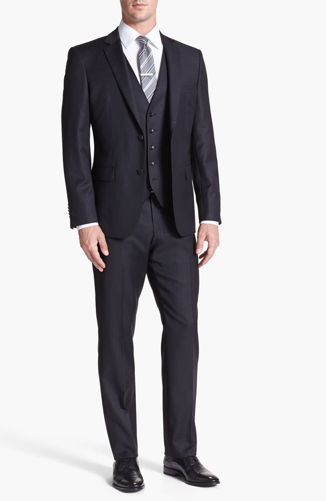 Alternate Image 1 Selected - BOSS HUGO BOSS 'Howard/Court' Trim Fit Three Piece Suit