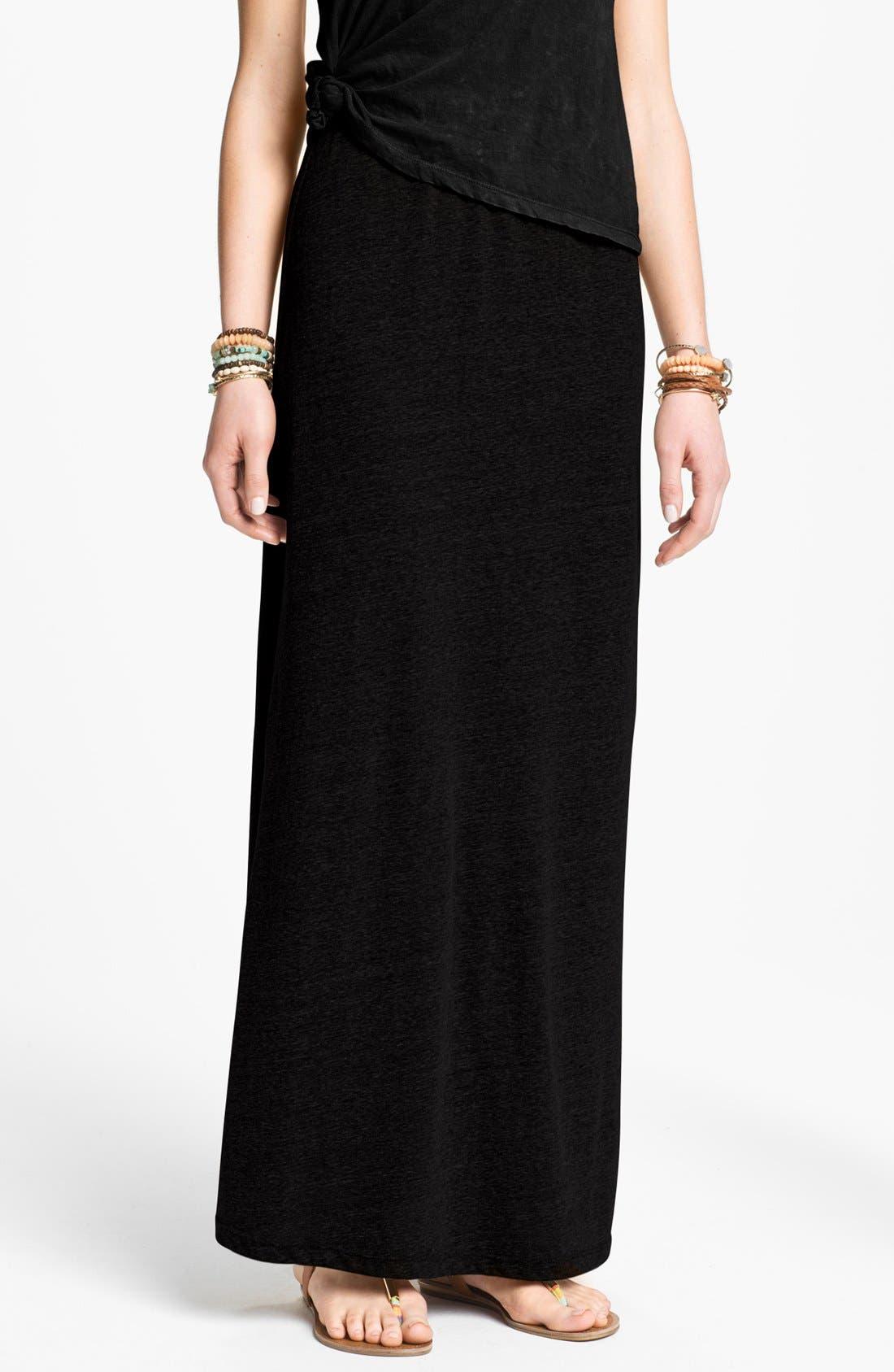 Main Image - h.i.p. Tri-Blend Knit Maxi Skirt (Juniors)