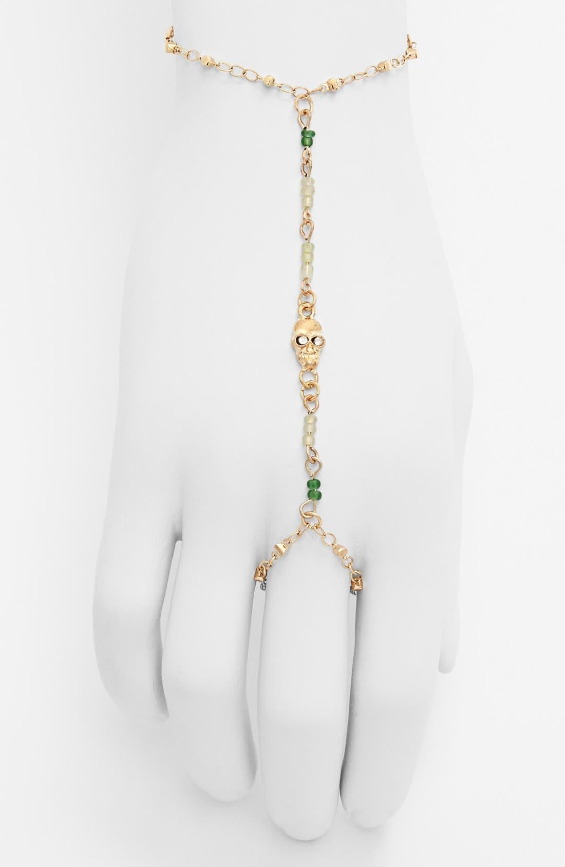 Alternate Image 1 Selected - Stephan & Co. 'Skull' Hand Chain (Online Only)