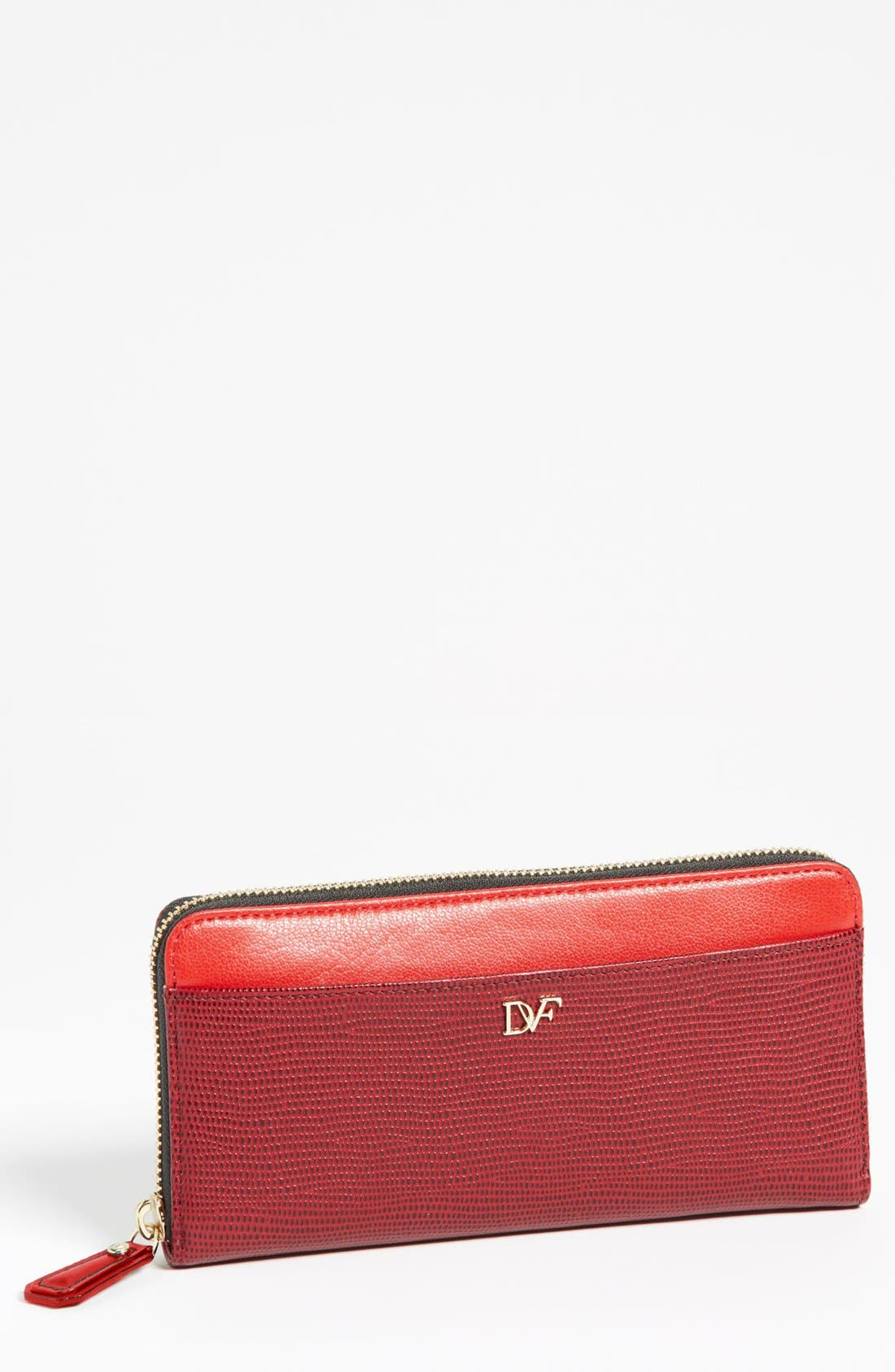 Alternate Image 1 Selected - Diane von Furstenberg Lizard Embossed Continental Wallet