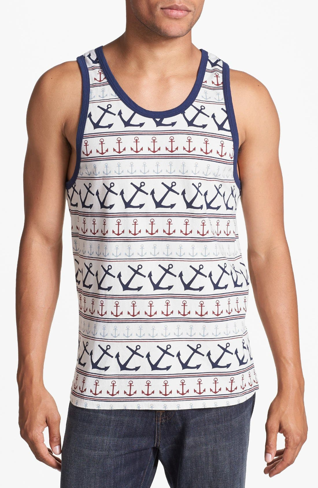 Main Image - Sub_Urban Riot 'Anchors' Print Tank Top