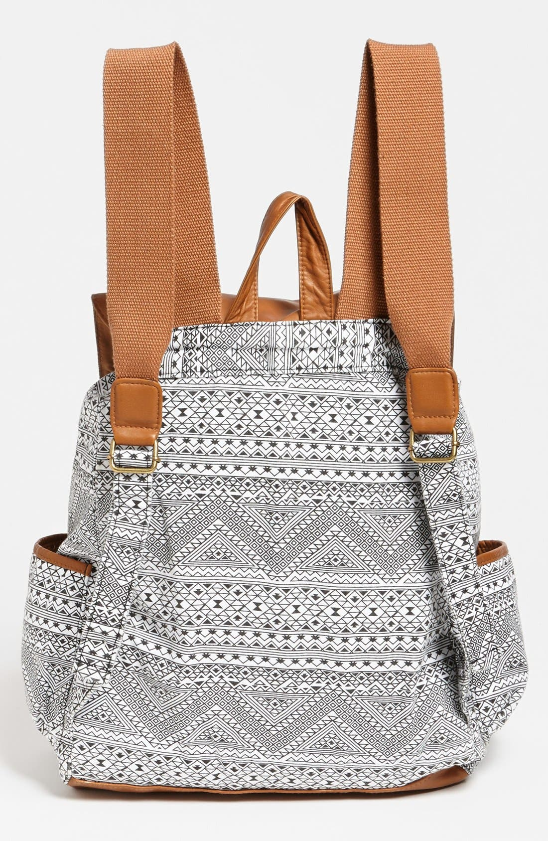 Alternate Image 4  - Lulu Faux Leather Flap Print Backpack (Juniors)