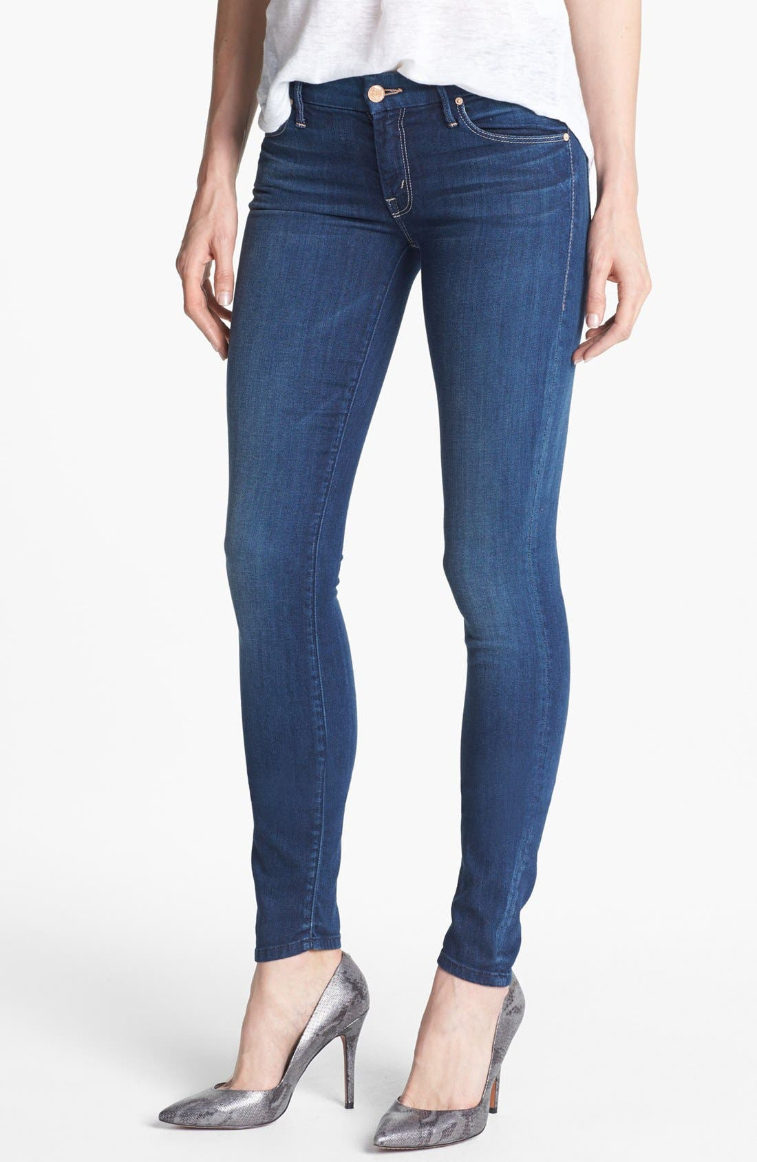 Main Image - MOTHER 'The Looker' Skinny Stretch Jeans (Sea of Secrets)