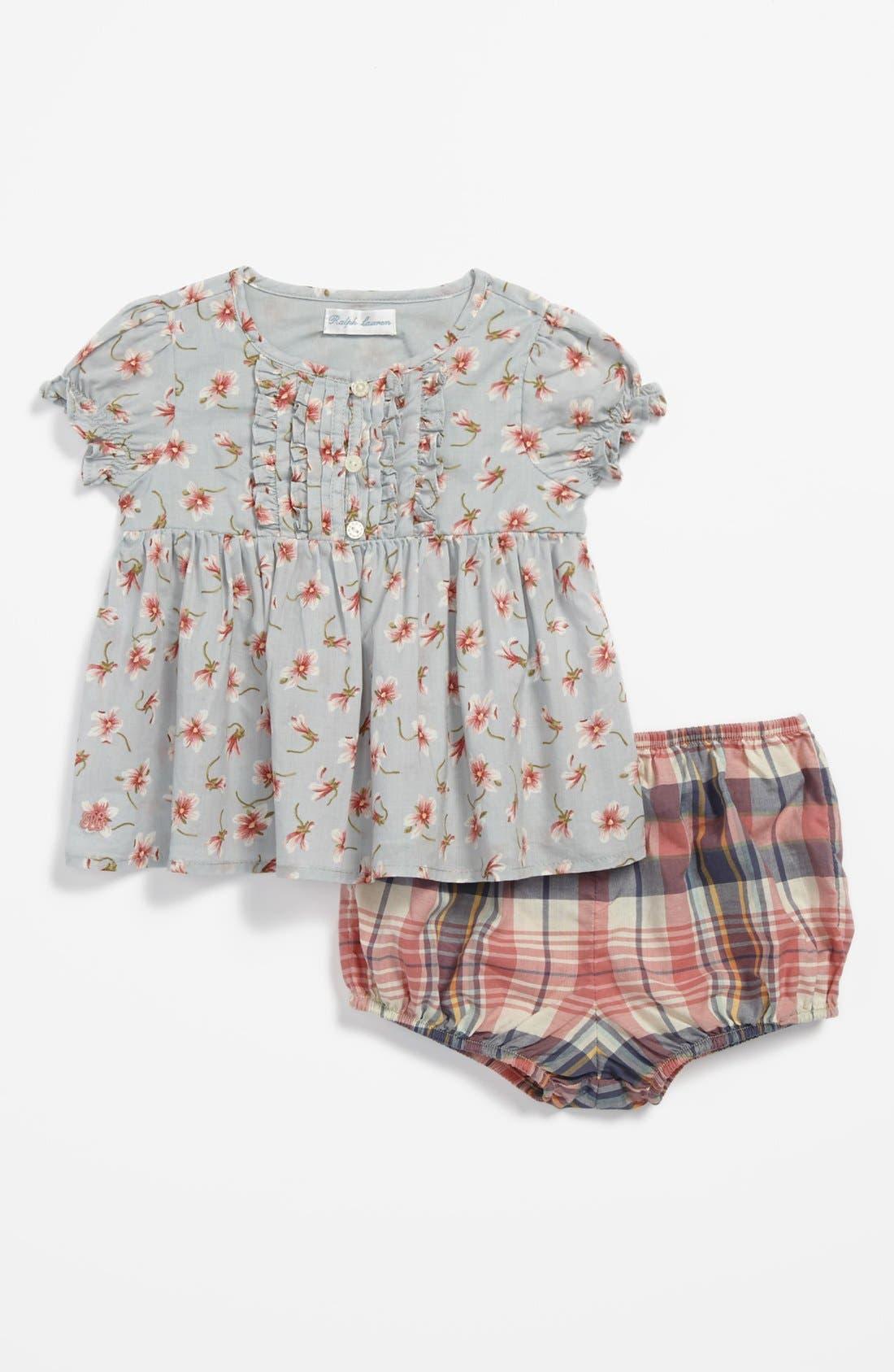 Alternate Image 2  - Ralph Lauren Top & Bloomers (Baby Girls)