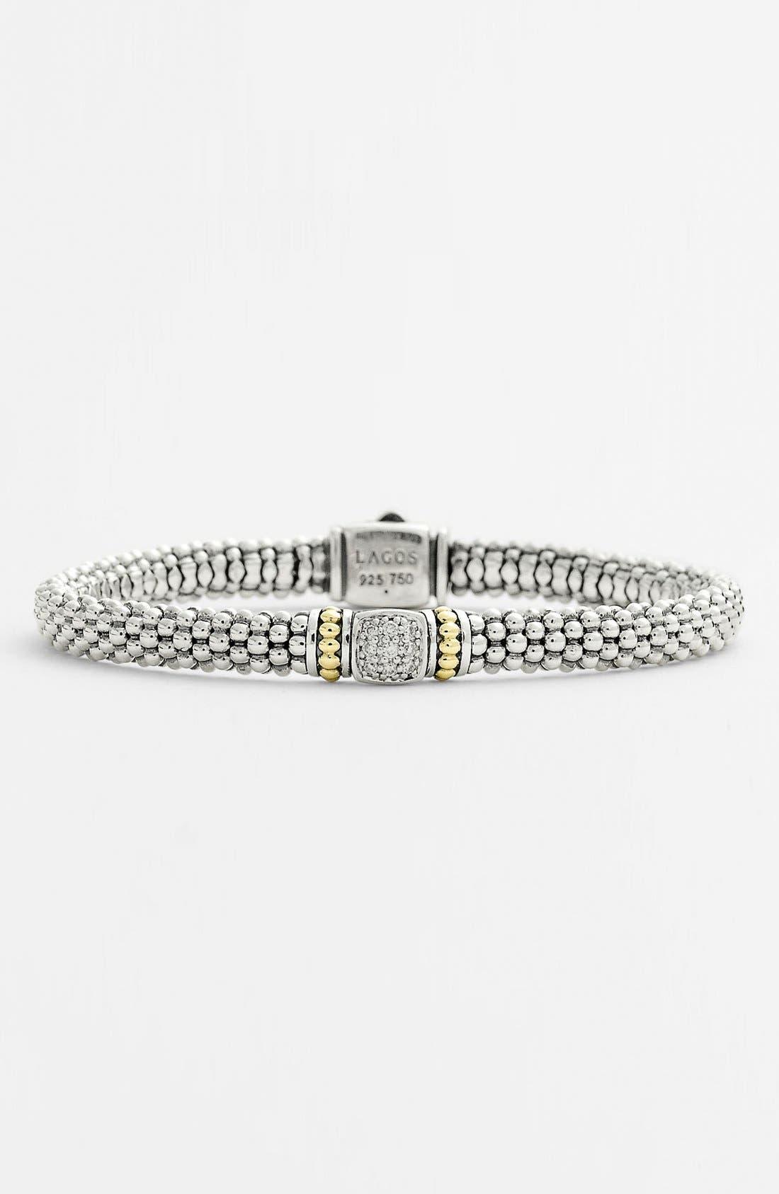 Alternate Image 1 Selected - Lagos Caviar™ Diamond Rope Bracelet (Nordstrom Exclusive)