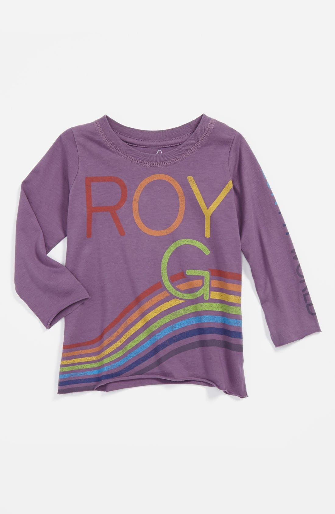 Alternate Image 1 Selected - Peek 'Roy G Biv' Tee (Baby Girls)