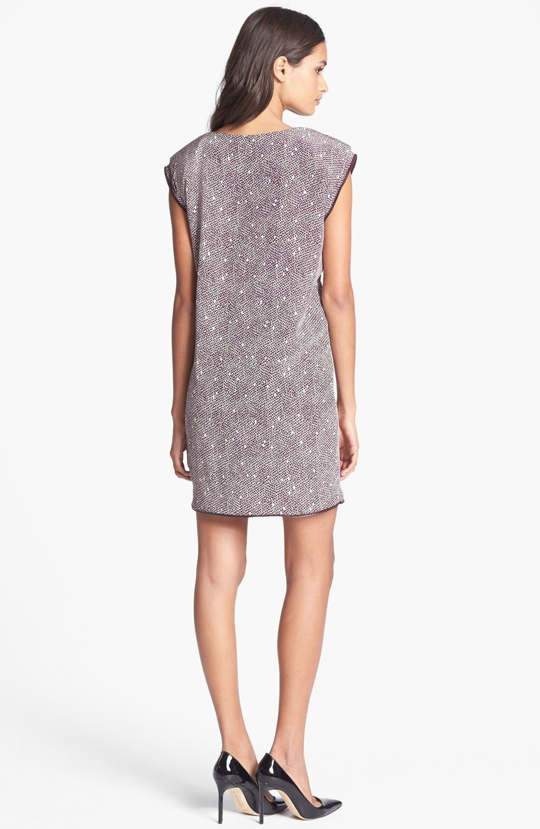 Alternate Image 2  - Rachel Roy 'Zip Tape' Silk Shift Dress