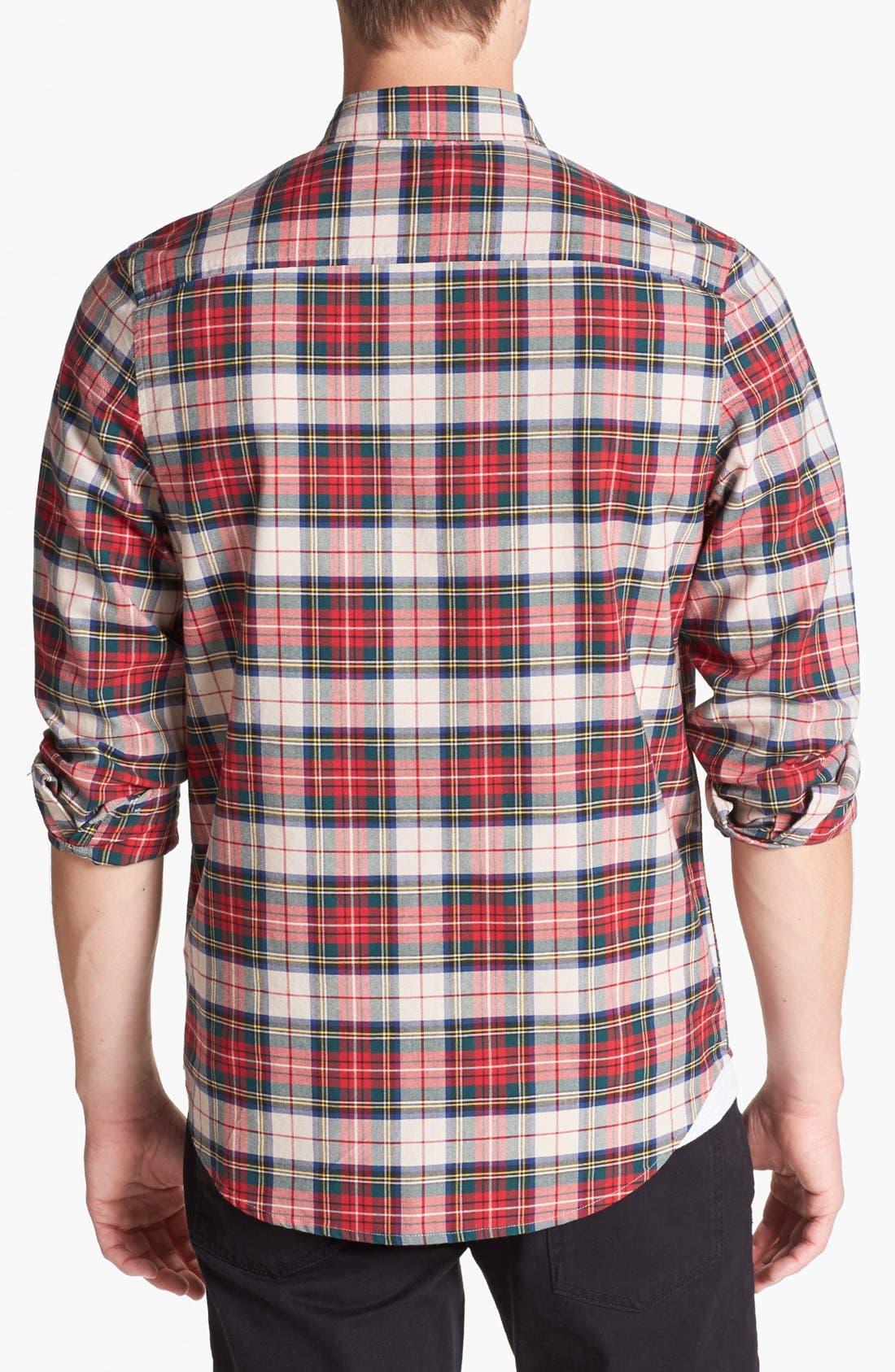 Alternate Image 2  - Topman Plaid Oxford Shirt