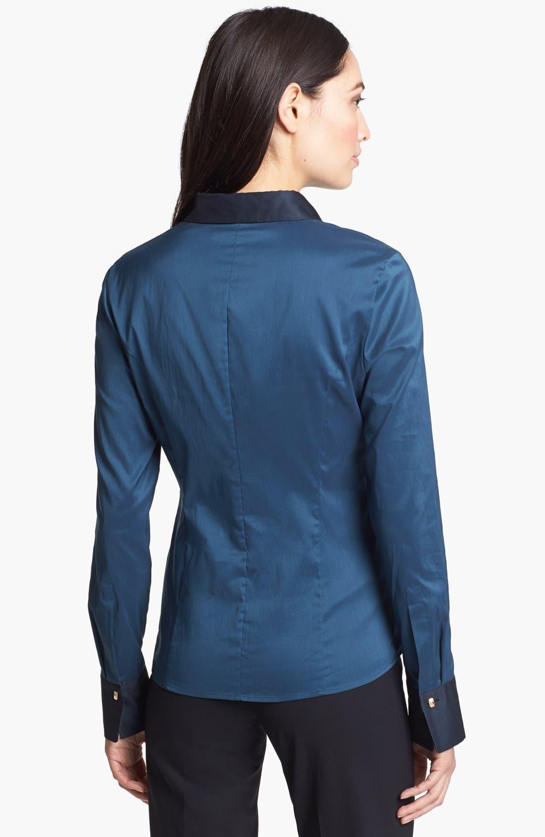 Alternate Image 2  - BOSS HUGO BOSS 'Bashina' Tuxedo Trim Shirt