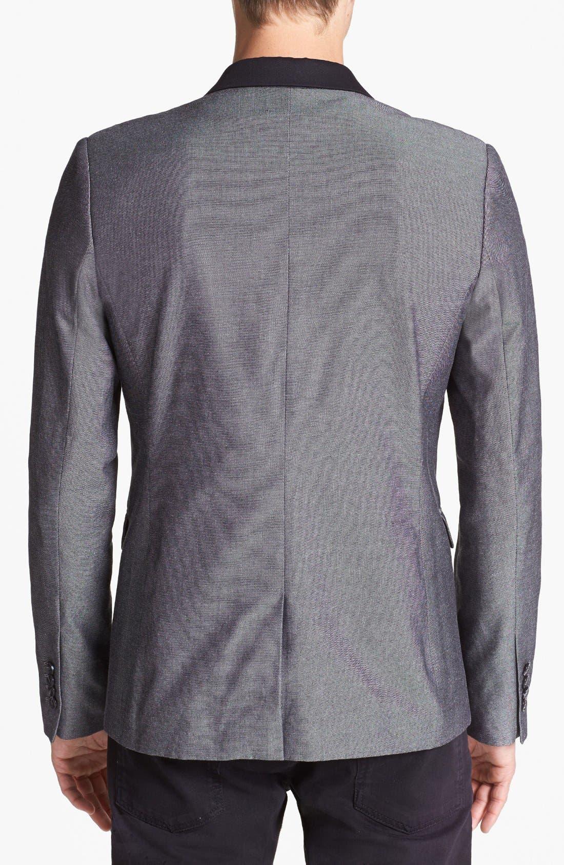 Alternate Image 2  - Topman Skinny Cotton Blazer