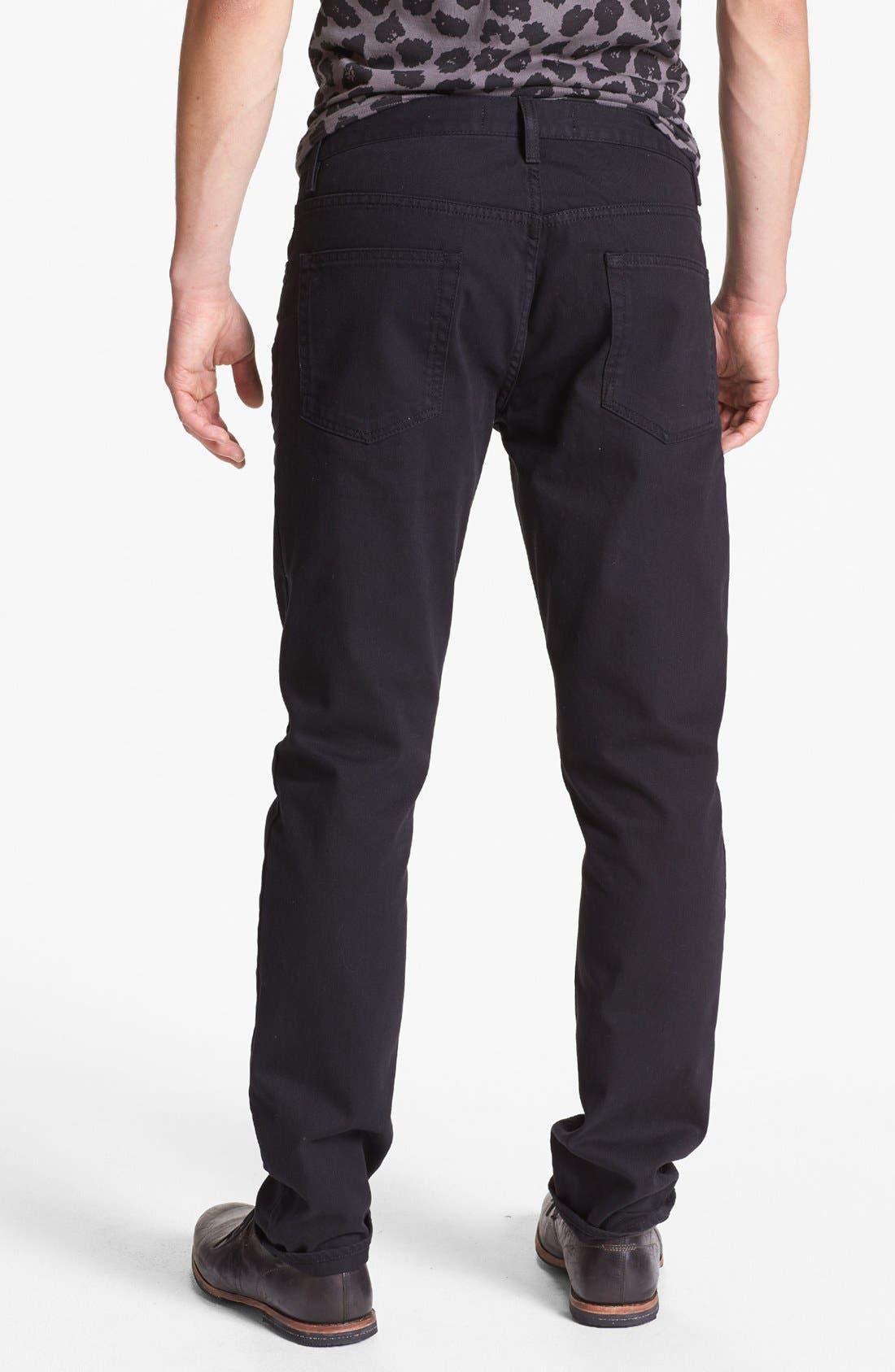 Alternate Image 1 Selected - Topman Slim Fit Jeans (Black)