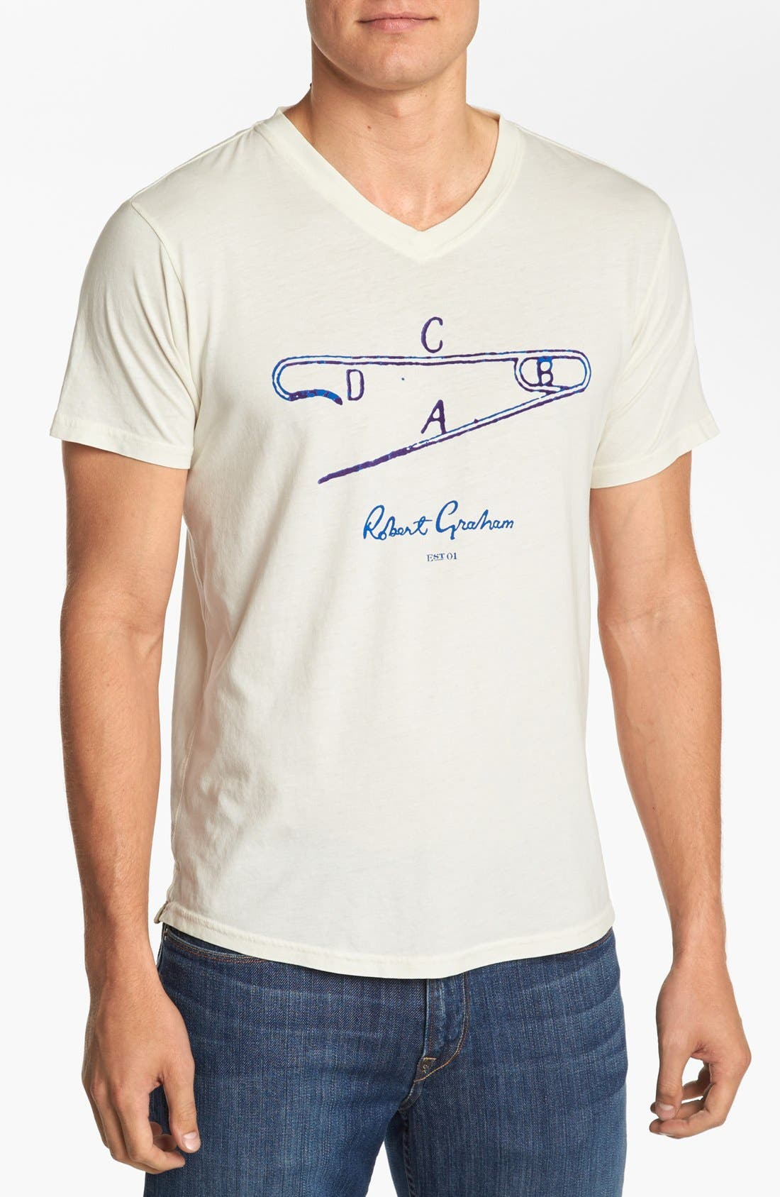 Alternate Image 1 Selected - Robert Graham 'Safety First' T-Shirt