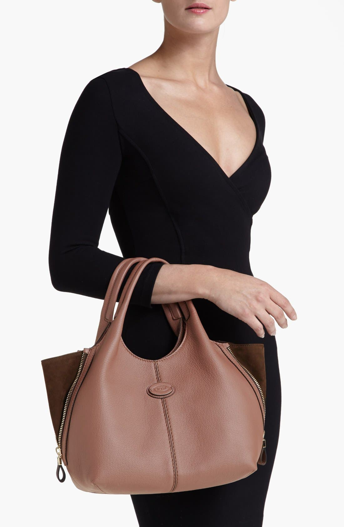 Alternate Image 2  - Tod's 'ALH Side Zip - Small' Leather Shopper