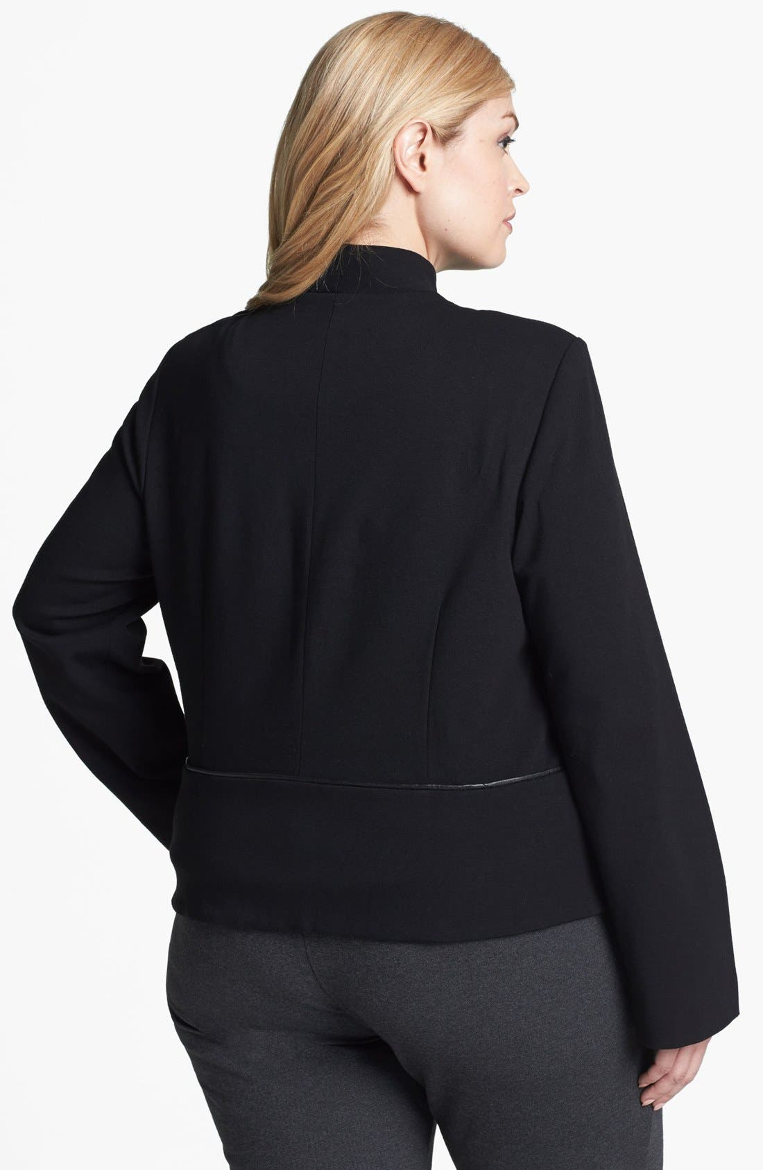 Alternate Image 2  - Eileen Fisher Ponte Knit Jacket (Plus Size)