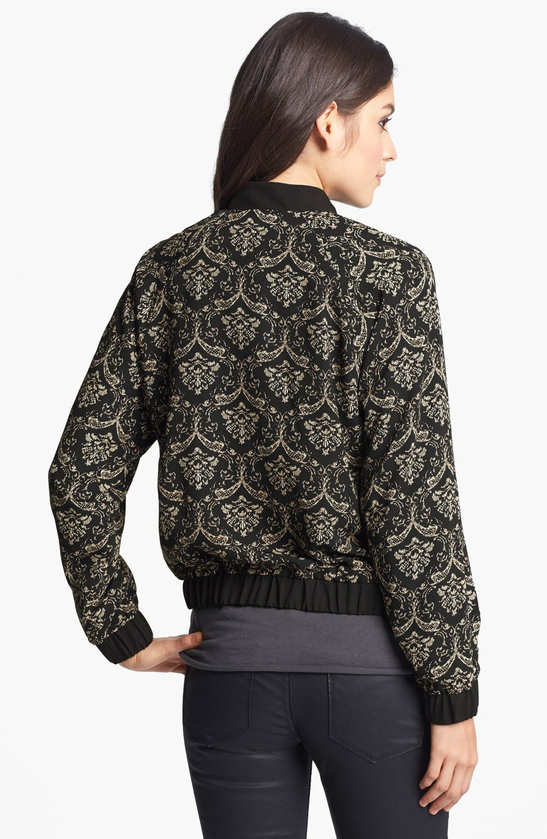 Alternate Image 2  - Elodie Jacquard Bomber Jacket (Juniors)